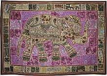 Vintage Design Gestickte Arbeit Elefant Wandbehang