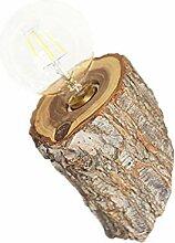 Vintage Design Wandleuchte Antik Holz Wandlampe