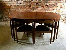 Vintage Dinette Esstisch & 6 Stühle von Hans