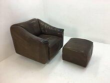 Vintage DS47 Sessel mit Ottomane von de Sede