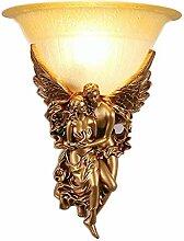 Vintage E14 Rund Glas Lampenschirm Wandleuchte