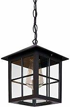 Vintage E27 Hängeleuchte Außen Lampe Schwarz