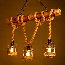 Vintage Edison Pendelleuchte 3*E27 Lampenfassung