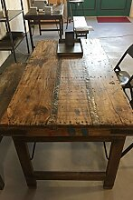 Vintage Esstisch aus Holz klappbar Shabby-Chic