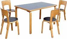 Vintage Esstisch und Stühle von Alvar Aalto,