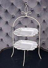 Vintage Etagere 2 Stöckig Kuchenständer Shabby