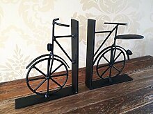 Vintage Fahrrad Bookends Black Metal Bike Buch