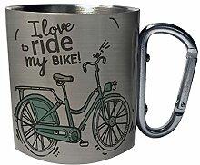 Vintage Fahrrad Fahrrad Edelstahl Karabiner