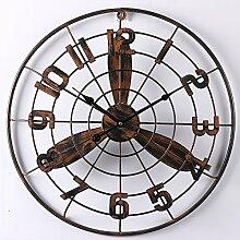 Vintage Fan Clock Dekorative Anhänger Bar Cafe Wand Dekorativ