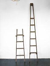 Vintage Fensterreiniger Leiter in Braun