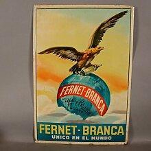 Vintage ´Ferenet Branca´ Blechschild, Spanien,