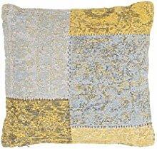 Vintage Flachgewebe Teppich Gold - Symphony Pillow 160 (40 x 60 cm) - Handgefertigt - 100% Baumwolle Chenille