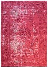Vintage Flachgewebe Teppich Rot - Nostalgia 385