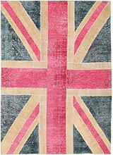 Vintage Flag Teppich Orientteppich 237x170 cm