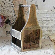 Vintage Flaschenständer für 4 Flaschen