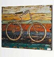 Vintage Garderobe in Bunt Fahrrad Motiv Pharao24