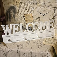 Vintage Garderobenleiste Welcome 67,5x23cm Leiste