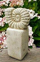Vintage Gartendeko Muschel Schnecke, Ammonit,