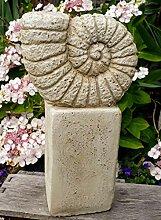 Vintage Gartendeko Muschel XL Schnecke, Ammonit,
