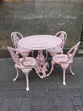 Vintage Gartentisch & 4 Stühle