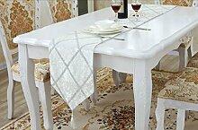 Vintage Geometrische Satin Tischläufer und