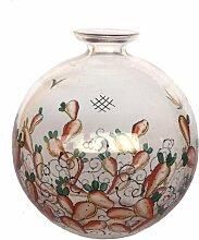 Vintage Glas-Emaille Vasen von Luigi Fontana für
