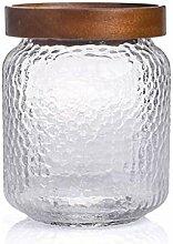 Vintage Glas Vorratsdose Flasche mit Sealed