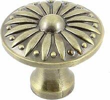 Vintage Gold Tone Schublade Kommode Schrank, runde Knob Pull Griff 3cm Durchmesser