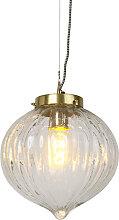 Vintage hängende Lampe Glas mit Messing - Visha