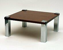 Vintage Holz & Chrom Couchtisch, 1970