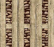 Vintage Holz Tapete 3D Dreidimensionale Stein Holz Tapete Für Bar TV Hintergrund Zimmer Loft Cafe Küche Decor 53 Cm (B) × 10 Mt (L),E