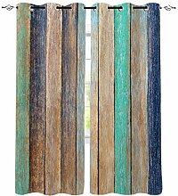 Vintage Holz Textur Fenster Vorhänge für