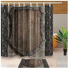 Vintage Holz Vorhänge Dusche Holz Schild auf
