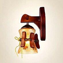 Vintage Holz- Wohnzimmer Lampe Landschaft Antique