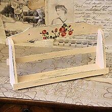 Vintage Holzablage 33 x 18 x 6,5 cm Deko Landhaus