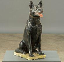Vintage Hunde Skulptur