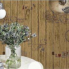 Vintage Imitation Holz Korn Vlies Tapete Home Decor Wallpaper , 5