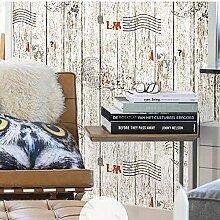 Vintage Imitation Holz Korn Vlies Tapete Home Decor Wallpaper , 3