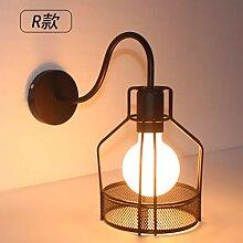 Vintage industrielle schmiedeeiserne lampe