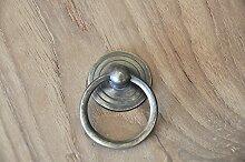 Vintage Interior 35mm Schubladen-ringe Schubladengriffe Schrankgriffe Ringgriffe Möbel-Griffe Kommodengriffe antike messing (1)
