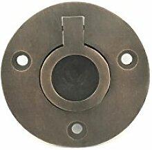 Vintage Interior 60mm Hänge-Griffe Zug-Hebe-Ringe für Schubladen oder Schränke rund (1)