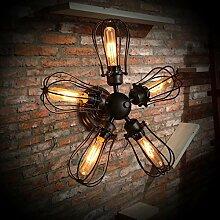 Vintage iron kreative Cafe restaurant Wandleuchte, Lampe für die Beleuchtung von gewerblichen Wind lange Decke lampe 500*500mm