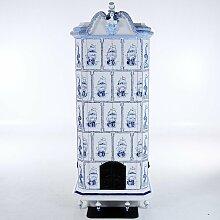 Vintage Kachelofen Schrank mit Galionsfigur auf