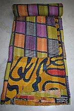 Vintage Kantha Quilt indische Baumwolle Tagesdecke