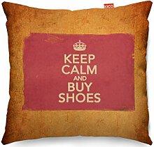 VINTAGE Keep Calm And Buy Shoes Sofa Cushion Kissen - (45x45cm) Medium
