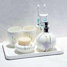 Vintage Keramik Badezimmer Zubehör Set Badezimmer