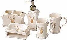 Vintage Keramik Badezimmerzubehör-Set,Badezimmer