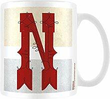 Vintage Keramik Becher mit Buchstabe N