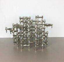 Vintage Kerzenhalter-Skulptur mit 52 Elementen von