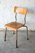 Vintage Klassenzimmer Holzstuhl